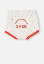 Cotton On - Stanley shorties - white & red