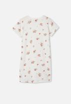Free by Cotton On - Toni T-shirt sleeve dress - white