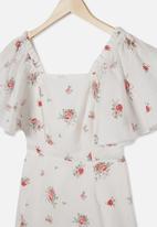 Free by Cotton On - Salma short sleeve dress - white