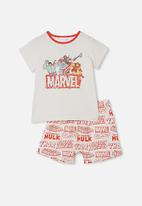Cotton On - Hudson short sleeve pyjama set - vanilla