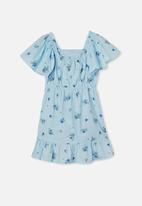 Free by Cotton On - Salma short sleeve dress - frosty blue