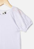 Cotton On - Isabella puff sleeve top - white
