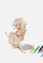 Cotton On - Wooden 3d puzzle and markers - lion