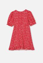 Free by Cotton On - Paris short sleeve dress - jolly red