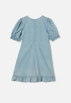 Free by Cotton On - Paris short sleeve dress - light blue wash
