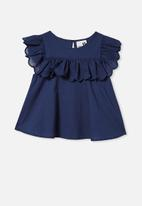 Cotton On - Charlotte short sleeve top - indigo