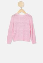 Cotton On - Sade pointelle cardigan - pink