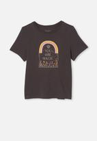 Free by Cotton On - Girls classic short sleeve tee - charcoal