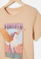 Free by Cotton On - Girls classic short sleeve tee - neutral