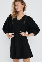 Jacqueline de Yong - Vita puff sleeve dress - black
