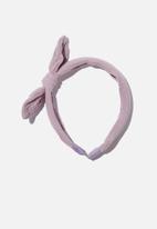Cotton On - Headband - fashion - vintage lilac cheesecloth