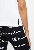 Champion - Legacy crew neck crop top - white