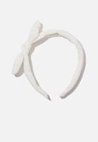 Cotton On - Headband - fashion - white embroidery