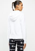 Champion - Legacy hooded sweat top - white