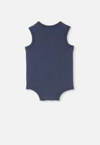 Cotton On - Loki singlet bubbysuit - navy blazer wash