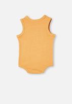Cotton On - Loki singlet bubbysuit - apricot sun wash