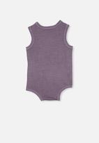 Cotton On - Loki singlet bubbysuit - dusk purple wash
