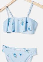 Free by Cotton On - Penny frill bikini - frosty blue