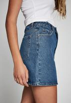 Cotton On - The classic denim skirt - coogee blue