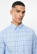 Nautica - Noon plaid shirt - blue & white