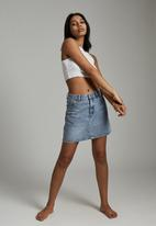 Cotton On - The classic denim skirt - cabarita blue