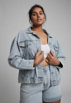 Cotton On - Curve 90s baggy denim jacket - burleigh blue