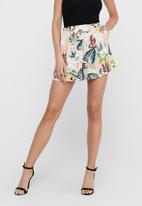 ONLY - Lizbeth paper bag shorts - pink multi