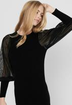 ONLY - Eylene long sleeve dress - black