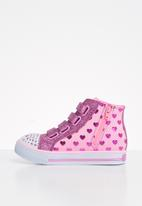 Skechers - Shuffles - doodle days - pink