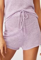 Cotton On - Match me knit short - frosty lilac