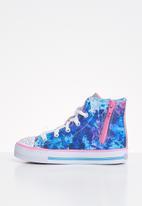 Skechers - Shuffles - studded steps - blue & pink
