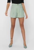 ONLY - Electra-aris high waist shorts - aqua grey