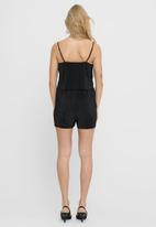ONLY - Claudia strap plisse playsuit wvn - black