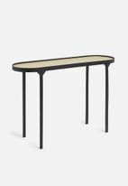Sixth Floor - Oval console - black & natural