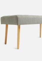 Sixth Floor - Buttoned bench ottoman - dove grey