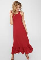 ONLY - Cathy life sleeveless maxi dress - red