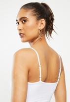 Blake - Cami knot front bralette - white