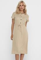 ONLY - Noma  short sleeve dress - neutral