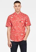 G-Star RAW - Bristum service straight short sleeve shirt - coral