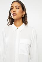 ONLY - Camilla long sleeve shirt - white