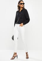 ONLY - Camilla long sleeve shirt - black