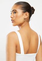 Blake - Square neck crop top - white