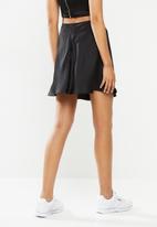 Blake - Satin mini slip skirt - black