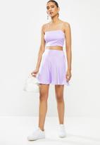 Blake - Satin mini slip skirt - lilac