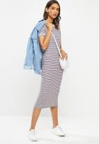 ONLY - Lou short sleeve stripe dress - multi