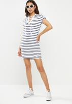 Lizzy - Irina dress - blue & white