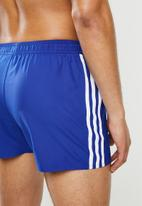 adidas Performance - 3 Stripe classic shorts - blue