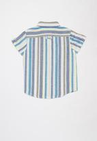 POLO - Boys blake short sleeve striped shirt - blue