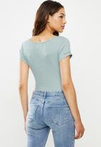 Lizzy - Caitie styled bodysuit - blue
