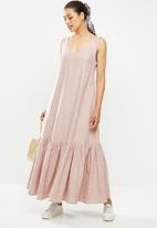 AMANDA LAIRD CHERRY - Inyameti dress - blush